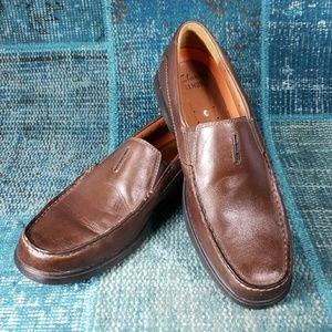 Clarks est.1825 Loafers Size 9.5 Rubber Sole Brown